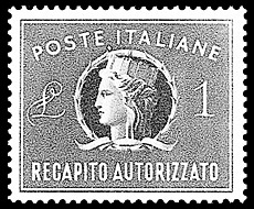 Italian authorized-delivery tax stamp.